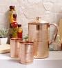 Indian Art Villa Handmade Copper Jug & Glasses - Set of 7