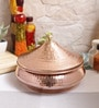 Steel & Copper 1.2 L Handi with Lid by Indian Art Villa