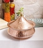 Steel & Copper 525 ML Handi with Lid by Indian Art Villa