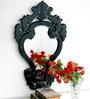 Black Glass & MDF Decorative Mirror by Venetian Design