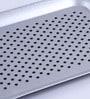 Intrendz Non-Slip White Aluminium Serving Tray