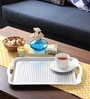 Intrendz Non-Slip White Aluminium Serving Tray