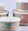 Intrendz Rangoli Cylindrical Container Set - Set of 5