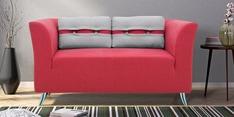 Iowa Two Seater Sofa in Crimson Red Colour