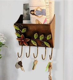 Iron Letter Key Holder For Wall