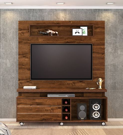 Buy Irene Tv Unit In Rustic Brown Finish By Casacraft Online