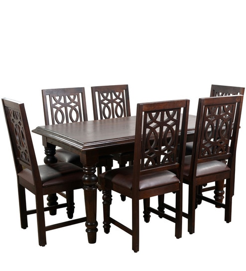 Buy Iris Solidwood Six Seater Dining Set By Hometown Online Six
