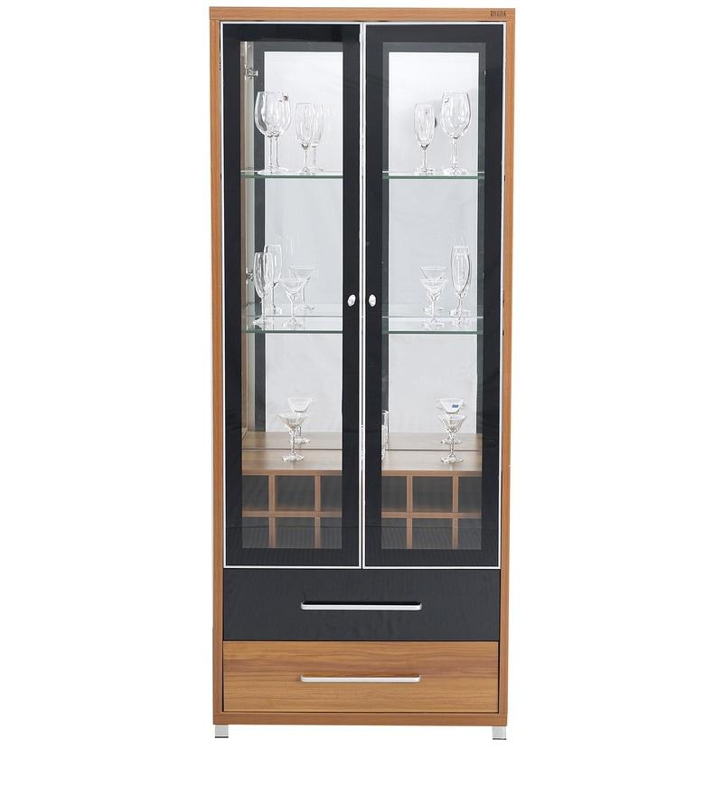 Buy Iris Mdf Crockery Cabinet In Maple Finish By Royal Oak