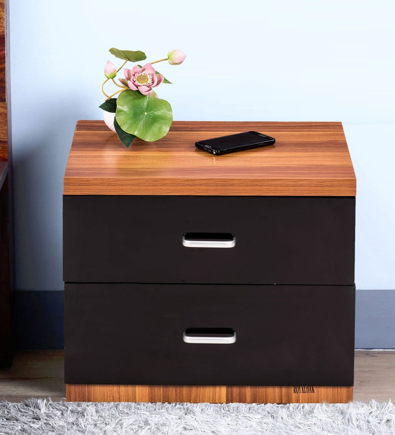 Buy Iris Bedside Table In Maple Finish By Royal Oak Online