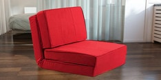 Isten Single Seater Sofa cum Bed in Red Colour