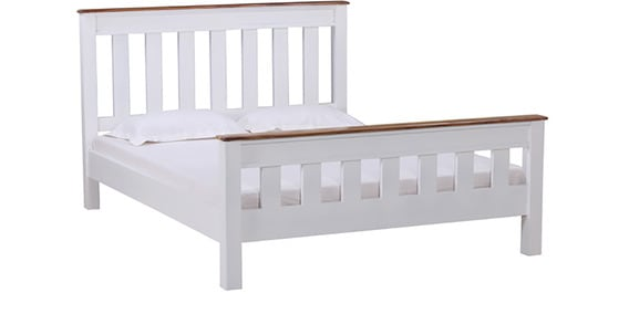 Buy Baronet Queen Size Bed in Dual Tone Finish by Amberville Online ...