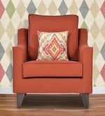 Ithaca Impulse One Seater Sofa in Coral Colour