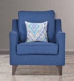 Ithaca Impulse One Seater Sofa with Throw Cushions in Teal Blue Colour