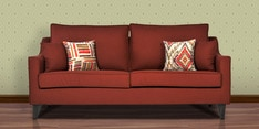 Ithaca Impulse Three Seater Sofa with Throw Cushions in Burnt Sienna Colour