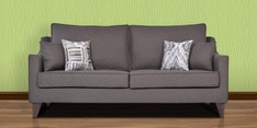 Ithaca Impulse Three Seater Sofa with Throw Cushions in Charcoal Grey Colour