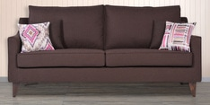 Ithaca Impulse Three Seater Sofa with Throw Cushions in Chestnut Brown Colour