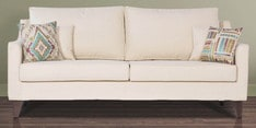 Ithaca Impulse Three Seater Sofa with Throw Cushions in Pale Taupe  Colour