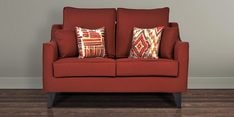 Ithaca Impulse Two Seater Sofa in Burnt Sienna Colour