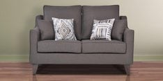 Ithaca Impulse Two Seater Sofa in Charcoal Grey Colour
