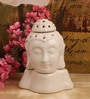 White Ceramic Buddha Electric Aroma Oil Burner by Itiha