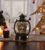 Itiha Multicolour Acrylic Christmas Battery Operated Decorative Led Snow Globe Lantern Table Lamp with Nativity Set