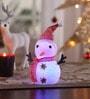Multicolour Acrylic Christmas Led Snowman Showpiece by Itiha