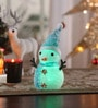 Multicolour Acrylic Christmas Led Snowman Showpiece by Itiha