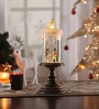 Multicolour Acrylic Christmas Snow Shimmer Battery Operated Led Candle Table Lamp with Snowman Set by Itiha