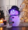Itiha Multicolour Acrylic Christmas Usb Charging Cable & Battery Operated Snowman Hat Showpiece