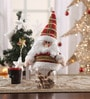 Multicolour Cloth & Plastic Christmas Santa Candy Jar by Itiha