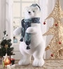 Multicolour Foam & Cloth Polar Bear Cub Showpiece by Itiha