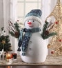 Itiha Multicolour Foam & Cloth Snowman Showpiece