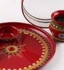 Itiha Multicolour Metal Karwachauth Pooja Thali Set