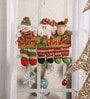 Multicolour Wood Christmas Santa Snowman Reindeer Merry Christmas Wall Hanging by Itiha