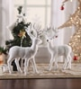 Itiha White Pvc Christmas Snow Reindeer - Set of 2
