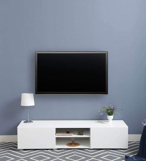 Ivor TV Unit In White Finish By Couchette