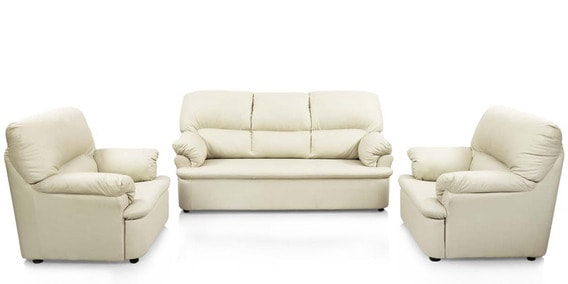 Ivy Sofa Set 3 1 Seater In Off White Colour Super