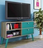 Iwa Entertainment Unit in Aquamarine Blue Finish