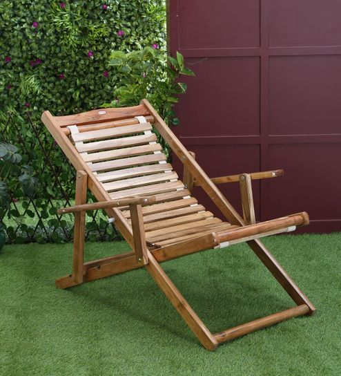 Izmir Teakwood Outdoor Folding Chair By Aura