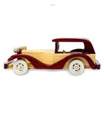 Multicolour Wood Decorative Car Showpiece