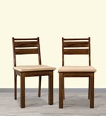 Java Dining Chair (Set of 2) in Honey Colour
