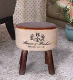 Jazmine Stool in Dual Tone Finish