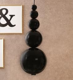 Jainsons Emporio Black Aluminium Pendants - 1600285
