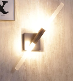 Jainsons Emporio Bronze Aluminium & Glass Wall Mounted Light