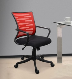 Jazz High Back Ergonomic Chair in Black u0026 Red Colour & Office Chair Online: Buy Ergonomic Chairs Online in India at Best ...