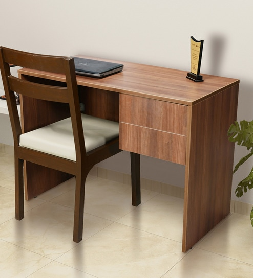 Janeiro Study Table In Brown Finish By Addy Design