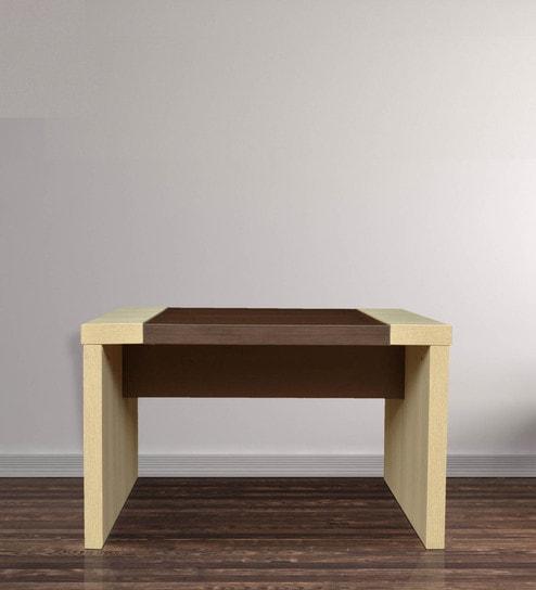 Jardin Office Center Table in Slate Oak & Dark Brown Finish by Crystal  Furnitech