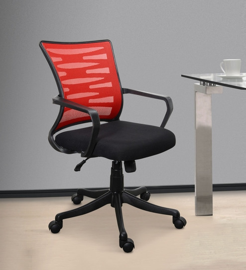 Jazz High Back Ergonomic Chair In Black U0026 Red Colour By Emperor