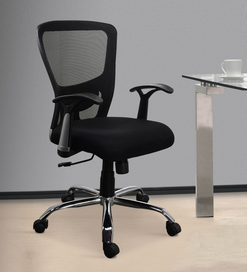 Buy Jazz High Back Ergonomic Chair In Black Colour By