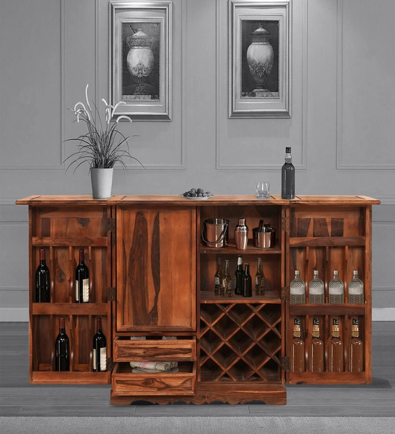 Buy Jason Bar Cabinet In Honey Finish By Trendsbee Online - Traditional Bar  Cabinets - Bar Furniture - Furniture - Pepperfry Product